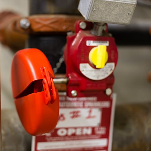 Lockout Safety Supply 7246 Gate Valve Lockout, 5'' - 6.5'' Wheel, Red by Lockout Safety Supply (Image #3)