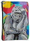 Gorilla Cosmetic Bag, Zip-top Closer - Taken From My Original Paintings (Gorilla - The Thinker)