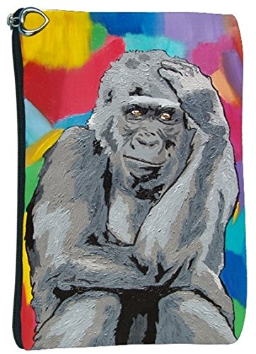 Gorilla Cosmetic Bag, Zip-top Closer - Taken From My Original Paintings (Gorilla - The Thinker) -