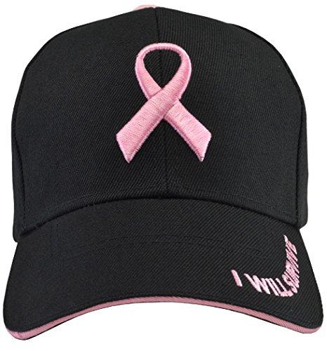 Breast Cancer Awareness I Will Survive Baseball Hat Black