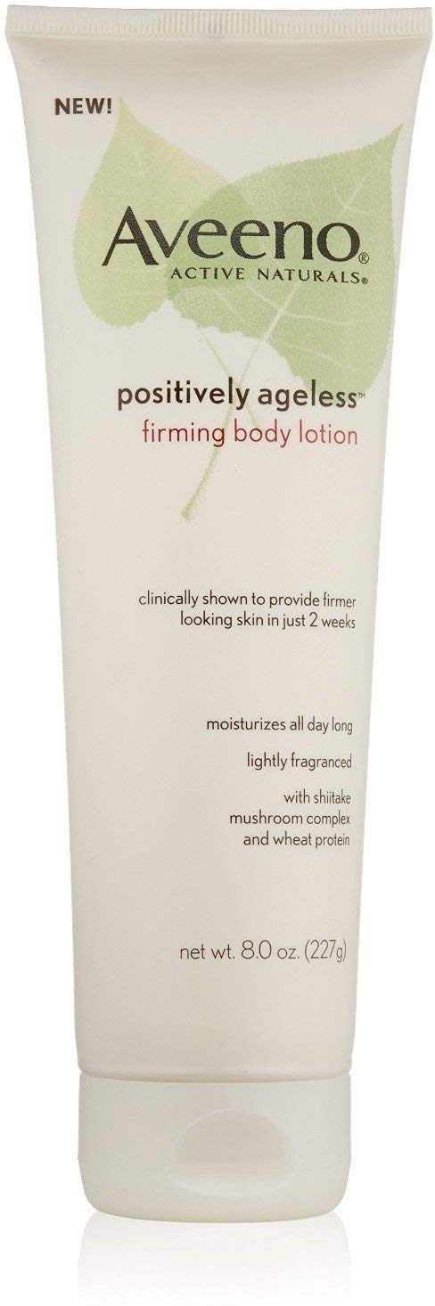 AVEENO Active Naturals Positively Ageless Firming Body Lotion 8 oz (4 Pack)