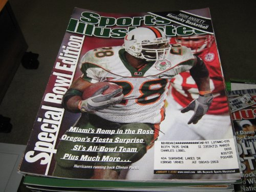 Sports Illustrated January 7 2002 Clinton Portis Hurricanes