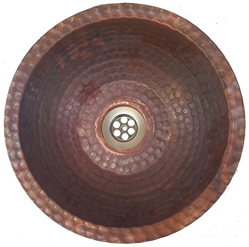 Metal Console Lavatory Sink - Egypt gift shops Small Compact Fire Burnt Copper Toilet Bathroom Lavatory Sink Bowl Flat Lip