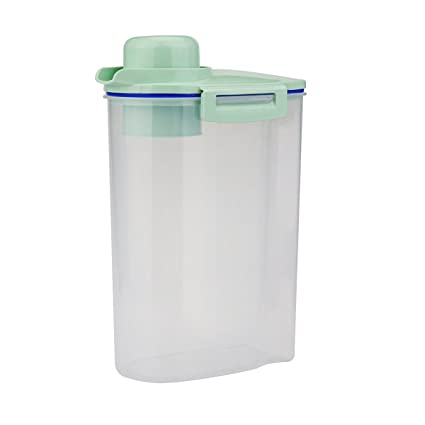 Superieur Rice Storage Bin Cereal Container With Pour Spout U0026 Measuring Cup, Portable  Sealed Clear Plastic