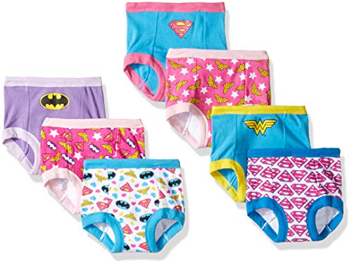 DC Comics Girls' Toddler 7-Pack, Justice League, 4T -