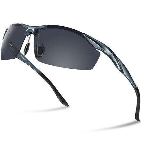 Paerde - Gafas de sol polarizadas para deporte, de montura irrompible, gris