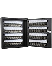 KYODOLED Key Storage Lock Box with Code,Locking Key Cabinet,Key Management Wall Mount with Combination Lock,Key Hooks & Tags Key Labels 200 Key,Black