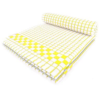 Fecido Classic Kitchen Collection Dish Towels - Heavy Duty - Super Absorbent - 100% Cotton - Professional Grade Dish Cloths - The Best European Made Tea Towels - Set of Two, Yellow