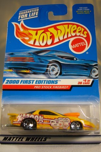 (Hot Wheels 2000-064 First Edition 4 of 36 Yellow PRO Stock Firebird 1:64 Scale)