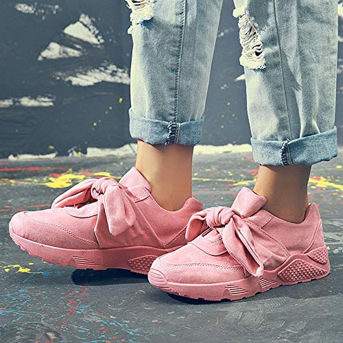 Bow Moccasins Woman Silk Women Sneakers Female Ladies Woman For Pink Flats GUNAINDMX Shoes Shoes Casual Tie Round Pink wgtxavq
