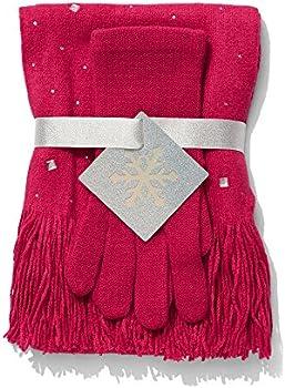 New York & Company 2-piece Jeweled Scarf & Gloves Set