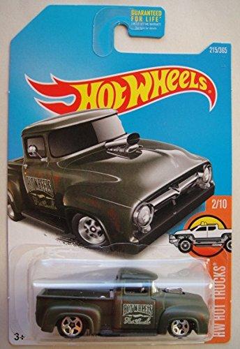 Hot Wheels 2017 HW Hot Trucks Custom '56 Ford Truck 215/365, Dark Green