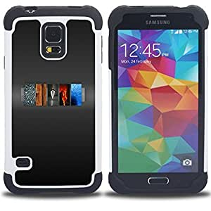- 5 Elements Of Life/ H??brido 3in1 Deluxe Impreso duro Soft Alto Impacto caja de la armadura Defender - SHIMIN CAO - For Samsung Galaxy S5 I9600 G9009 G9008V