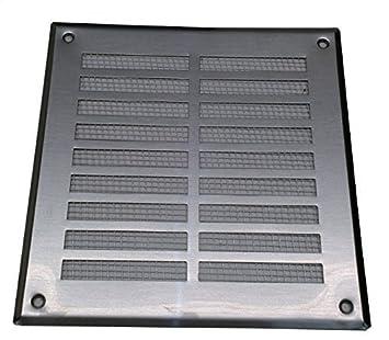 Rejilla de ventilación de acero inoxidable 165x230mm ...