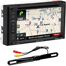 """Planet Audio PNV9645RC Bluetooth, Navigation, Double Din, 6.2"""" Touch Screen, DVD/CD/USB/SD/MP3 AM/FM Receiver, License Plate Camera Included"""