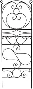 Achla Designs FT-27 Ferro Firenze Wrought Iron Garden Trellis, 66-in, Roman Bronze