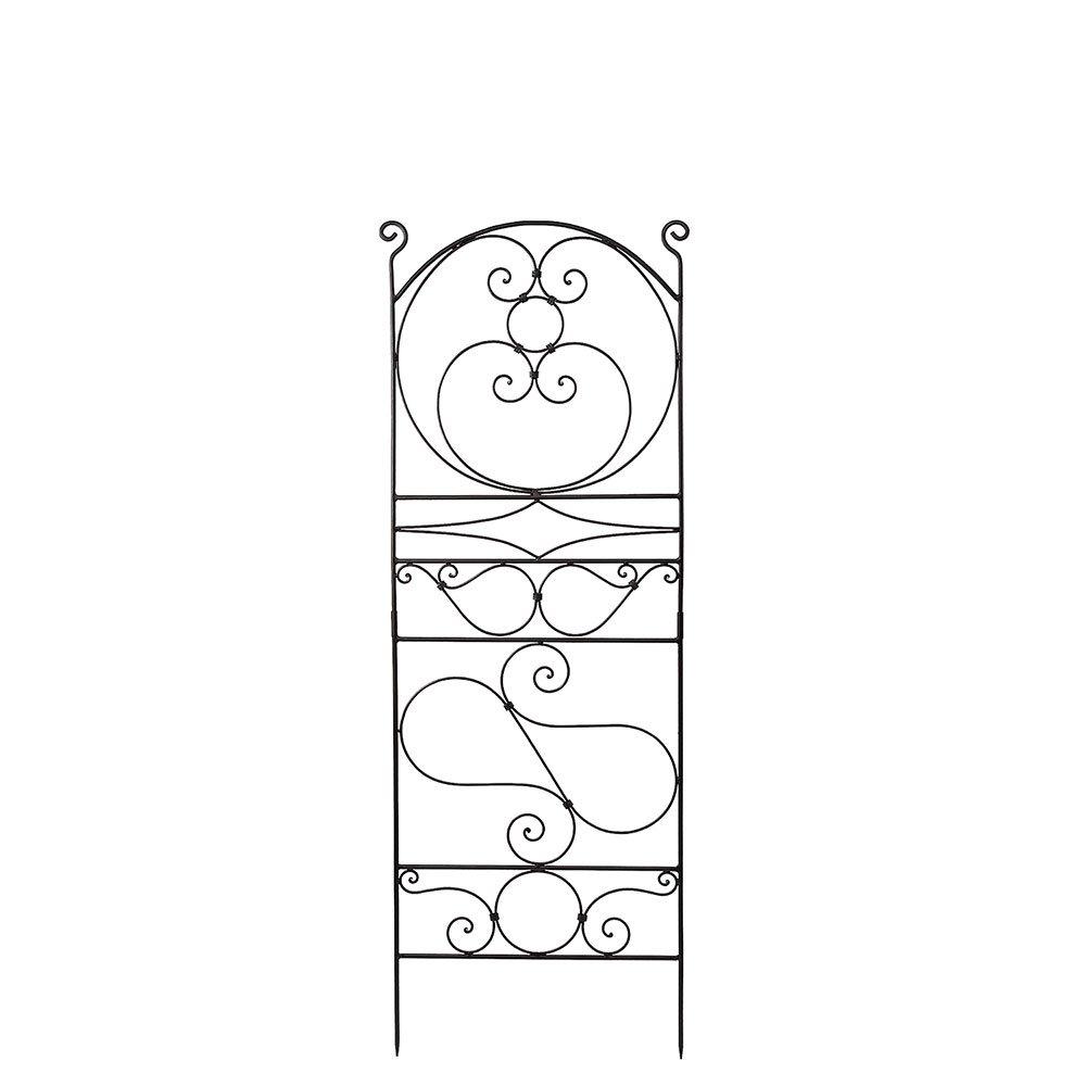 Achla Designs Ferro Firenze Wrought Iron Garden Trellis, 66-in
