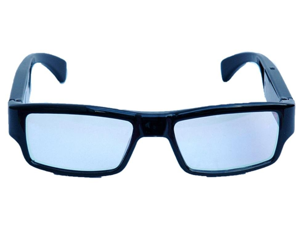 LLZJ Glasses Spy Camera High Definition 1080P Sports Eyewear Mini Hidden Video Ski Camcorder Recorder Outdoor Travel Digital Black Fashion