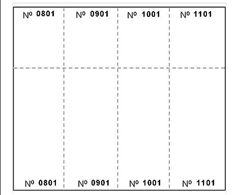 amazon com laser print raffle ticket sheets 8 1 2 x 11 4