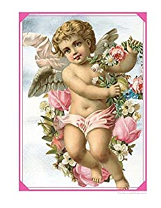 Pink Victorian Angel Cherub Notebook: Journal