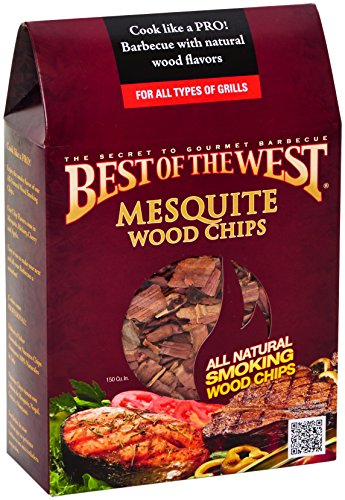 Best of the West 55001-0 Wood Smoking Chips, Mesquite, 150 Cubic Inch Box (Smoker Mesquite Chips compare prices)