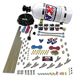 Nitrous Express 80018-15 200-500 HP Straight Through Design Direct Port System with 15 lbs. Bottle