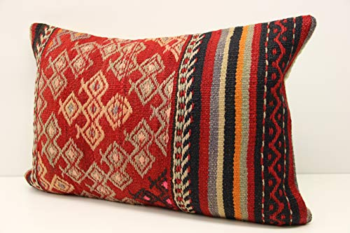 Turkish kilim pillow cover 16x24 inch (40x60 cm) Novelty Lumbar Kilim pillow Unique Pillow Traditional Pillow cover Kilim Cushion Cover Handmade pillowcase Rustic pillow