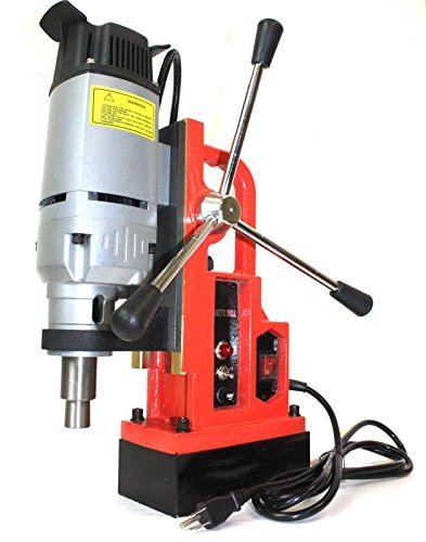 Magnetic Drill Press 1350W 1'' Boring & 3372 LBS Magnet Force Strong Base Heavy Duty Machine Durable Construction Garage Warehouse - Skroutz by Skroutz