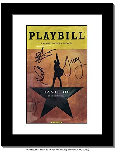 CreativePF Theatre Playbill Frame - Displays 8.5 by 5.5 inch Media Collection, Easel Stand and Wall Hanger Included (Black W/White Mat, 1)