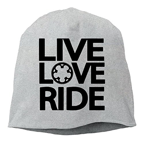 (Fashion Solid Color Live Love Ride Wool Hat for Unisex Ash One Size)