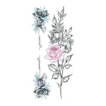 Animal acuarela boceto pareja carta flor tatuaje etiqueta flor ...