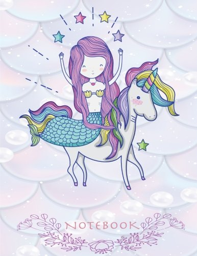 Notebook: Mermaid cover and Line pages, Extra large (8.5 x 11) inches, 110 pages, notebook,notebook and journals (Mermaid notebook) (Volume 4)