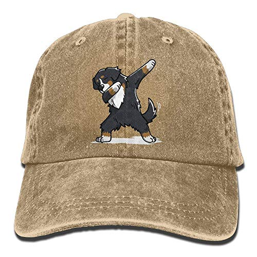 Yuan Kun Adjustable Denim Jeans Baseball Caps Dabbing Bernese Mountain Dog Plain Cap