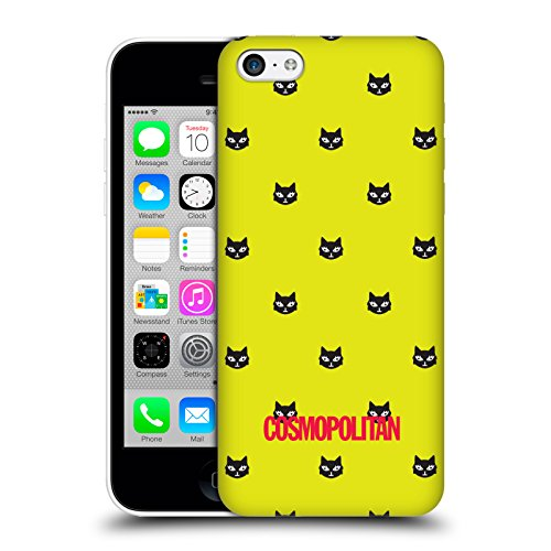 Official Cosmopolitan Yellow Green Lovey The Cat Hard Back Case for Apple iPhone 5c