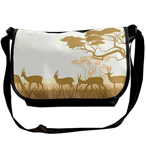 Funny Africa Deer Casual Adjustable Strap Shoulder Bag - Crossbody Sling Messenger Bags by LMNTI