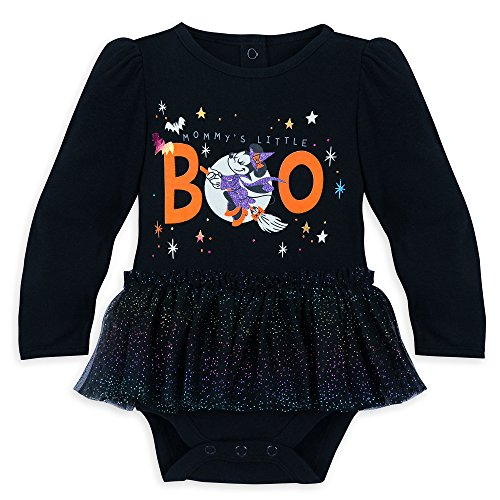 Disney Minnie Mouse ''Mommy's Little Boo'' Halloween Bodysuit for Baby Size 12-18 MO Multi -