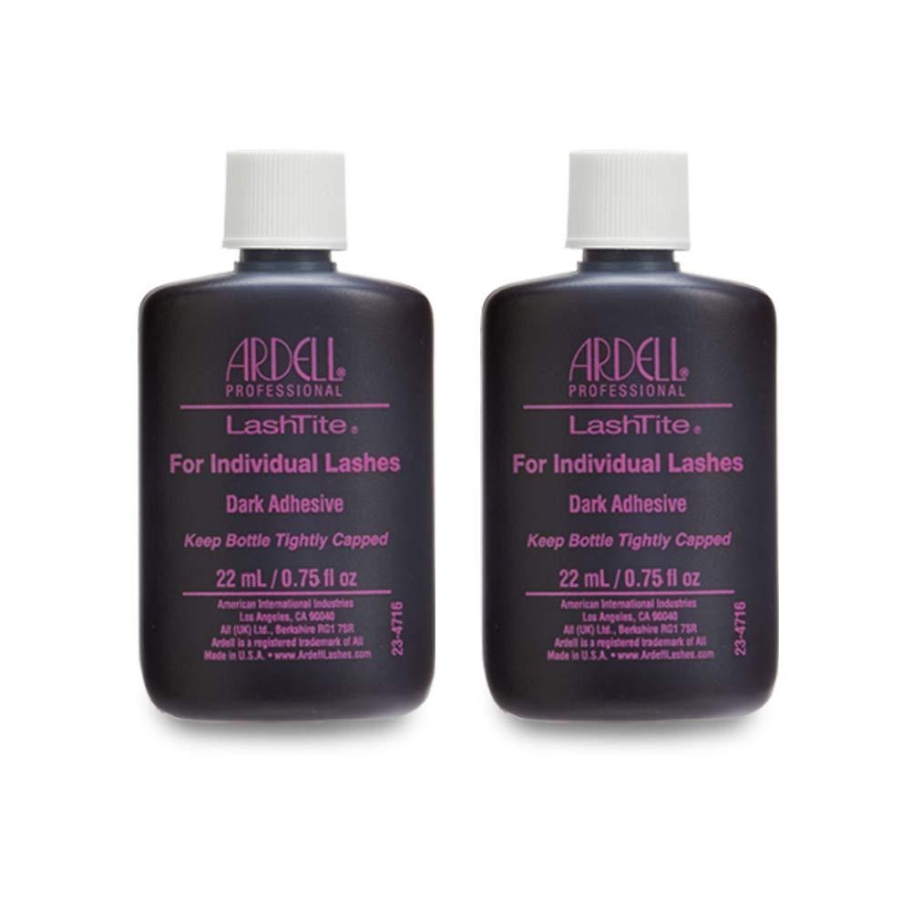 Ardell LashTite Lash Adhesive Dark for Individual Lashes, 0.75 oz x 2 pack