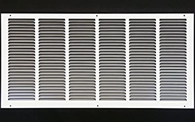 "30""w X 12""h Steel Return Air Grilles - Sidewall and Ceiling - HVAC DUCT COVER - [Outer Dimensions: 31.75""w X 13.75""h]"