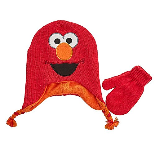 Elmo Hats (Sesame Street Elmo Baby Little Boys Toddler Winter Hat and Mitten Set)