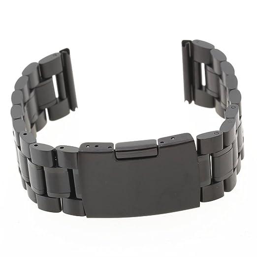 49465dbde Pulsera Correa Acero Color Negro Repuestos para Reloj Watch Strap:  Amazon.es: Relojes