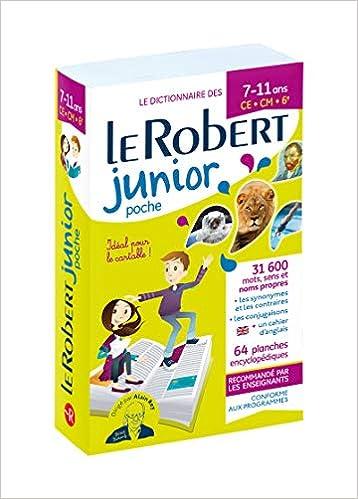 Amazon Dictionnaire Le Robert Junior Poche 7 11 Ans Ce Cm 6e Dictionnaires Scolaires Collectif Dictionaries Thesauri