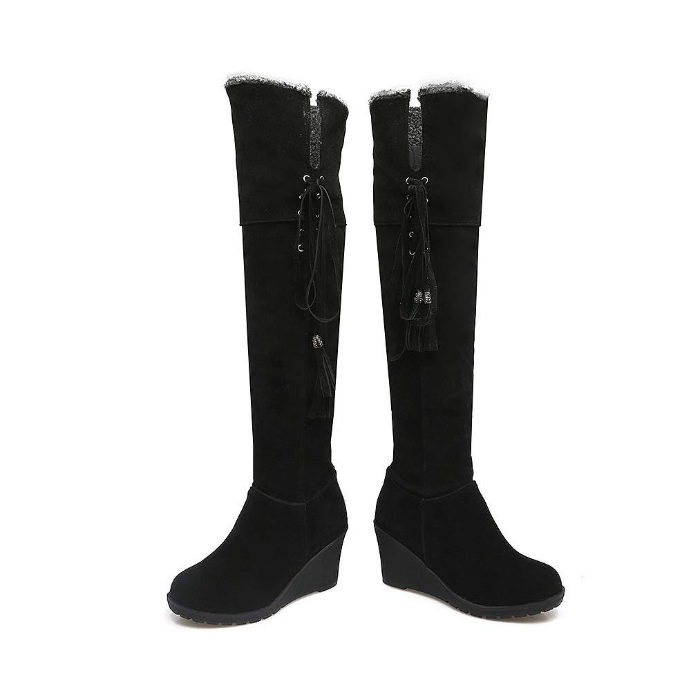 Frauen Frauen Frauen Keilabsatz Hohe Knie Lange Stiefel b9bde1