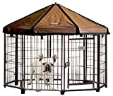 Image of Advantek Pet Gazebo Outdoor Metal Dog Kennel with Reversible Cover, 4 Foot