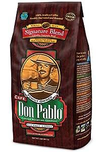 2LB Cafe Don Pablo Gourmet Coffee Signature Blend - Medium-Dark Roast Coffee - Whole Bean Coffee - 2 Pound ( 2 lb ) Bag