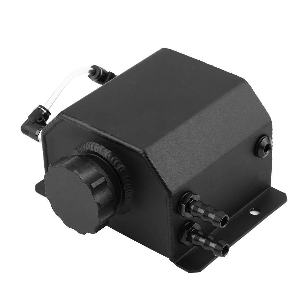 la captura del aceite de motor puede respirar la botella del tanque con negro del tap/ón de drenaje Duokon El tanque de refrigerante de aluminio modificado de la aleaci/ón 1L del coche