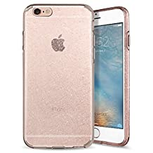 iPhone 6S Case, iPhone 6 Case, Spigen Liquid Crystal - Slim Protection Soft Clear Case for Apple iPhone 6S / iPhone 6 - Glitter Rose Quartz