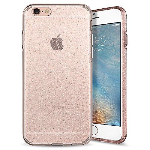 Spigen Liquid Crystal iPhone 6s Case with Slim Protection and Premium Clarity for iPhone 6s / iPhone 6 - Glitter Rose Quartz
