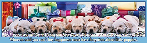 Buffalo Games Panoramic:  Holiday Puppies - 750 Piece Jigsaw Puzzle by Buffalo Games