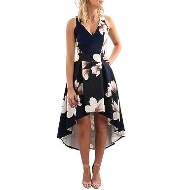 WINWINTOM Womens Vintage Flower Print Long Boho Dresses Casual Loose Dress Evening Party Mini Dresses Lady Beach Summer Sundrss Maxi Dress Plus Size: ...