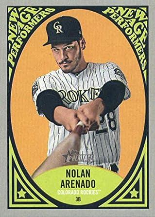 3a53d7c432b9e Amazon.com: 2019 Topps HeritageAge Performers #NAP-22 Nolan Arenado ...